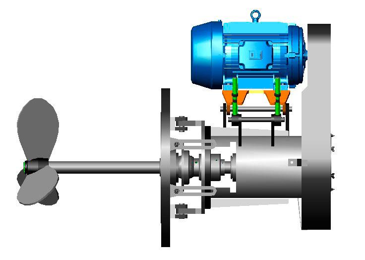Agitador industrial para líquidos