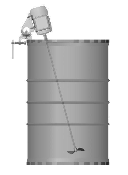 Agitador para tambores 200 litros