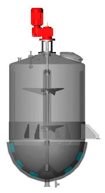 Tanque misturador com agitador