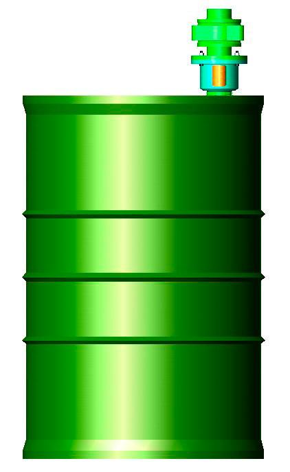 Agitador pneumático para tambor