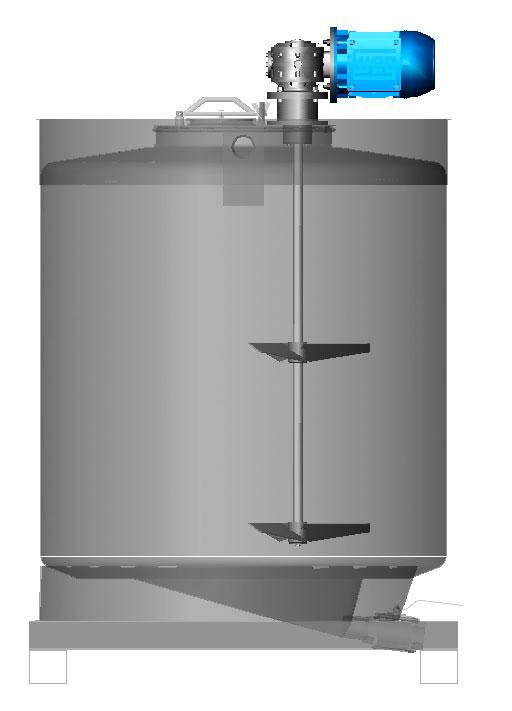 Tanques de inox com agitador